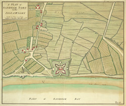A Plan of Sandham Fort in the Isle of Wight